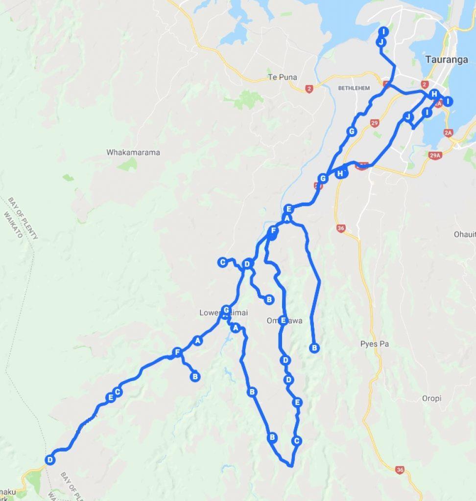 TTNG - Kaimai routes